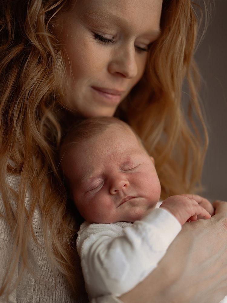 Newborn shoot met mama